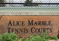 ALIC MARBLE TENNIS COURTS SIGN